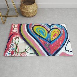 Grafitti heart Rug
