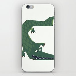 Snapping vintage Alligator iPhone Skin
