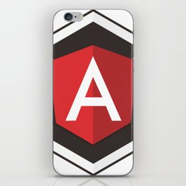 Angular Js developer sticker angularjs javascript framework iPhone Skin