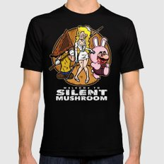 Silent Mushroom Mens Fitted Tee MEDIUM Black