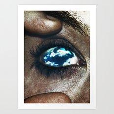 Ojos color cielo Art Print