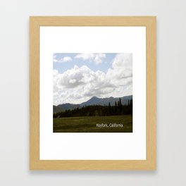Cloudy Day in the Country... Framed Art Print