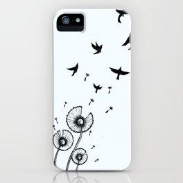 Birds In The Wind iPhone Case