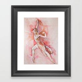 Float, watercolor & pastel Framed Art Print