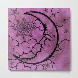 Moon vintage pink Metal Print