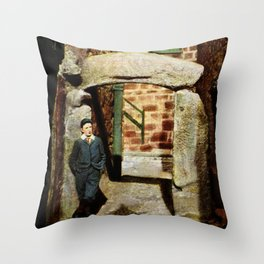 1900 St. Ives Cornwall, The Old Arch, local boy Throw Pillow