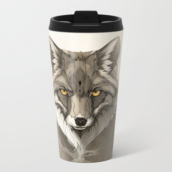 Red Fox Metal Travel Mug