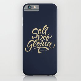 Soli Deo Gloria iPhone Case