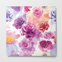 Watercolor Roses 5 Metal Print