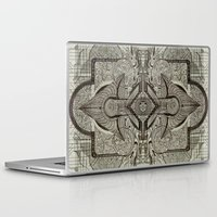 chakra Laptop & iPad Skins featuring Second Chakra by Work the Angle