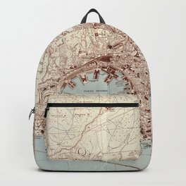 Vintage Genoa Italy Map (1943) Backpack