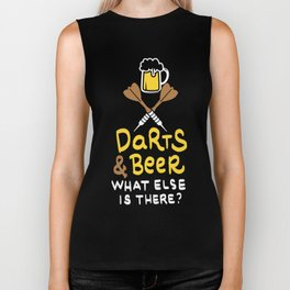 Darts & Beer. What else is there? - Gift Biker Tank
