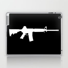 AR-15 (on black) Laptop & iPad Skin