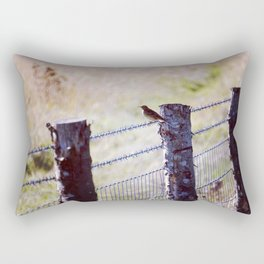 Bird on a fence Rectangular Pillow
