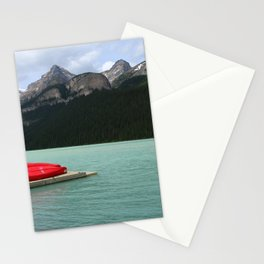 Lake Louise Red Canoes Stationery Cards