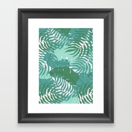 Leaves Framed Art Print