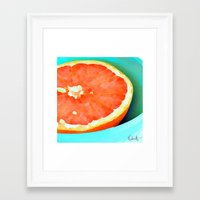 aelwen Framed Art Prints featuring Grapefast by Xchange Art Studio