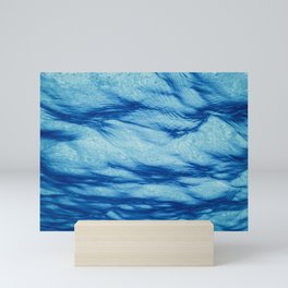 Underwater view of the sea surface. Mini Art Print