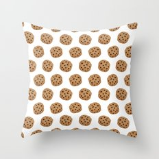 Chocolate Chip Cookies Pattern Throw Pillow
