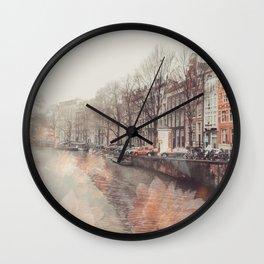 Flowers in Amsterdam ll Wall Clock