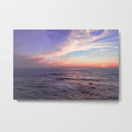 Sunset over the ocean Metal Print