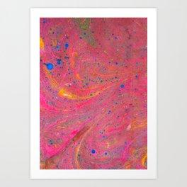 Marbling 3, Tie Dye Effect Abstract Pattern Art Print