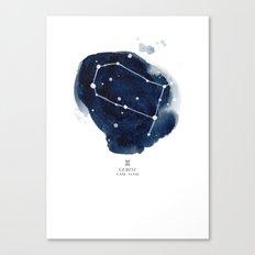 Zodiac Star Constellation - Gemini Canvas Print