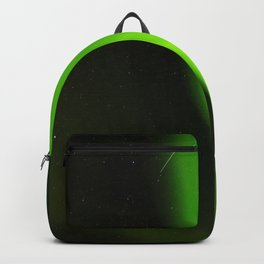 Northern lights and a shooting star Backpack