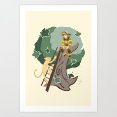 Stuck in a Tree Art Print
