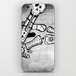 Skull #3 (Lost Pieces) iPhone Skin