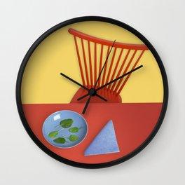 Healthy menu Wall Clock