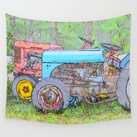 antique Wall Tapestries featuring Antique Buddies! by Alaskan Momma Bear