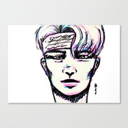Guy in bandana Canvas Print