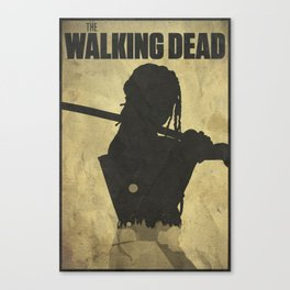 The World Ain't The Same - The Walking Dead Poster Canvas Print