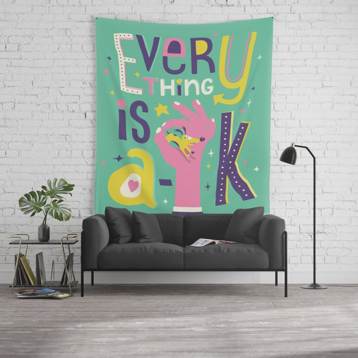 A-OK Wall Tapestry