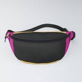 The intertwining pink and yellow ribbons Fanny Pack