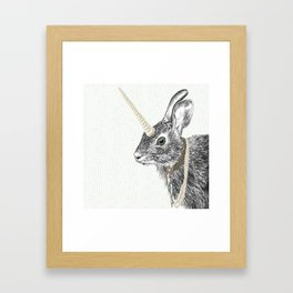 uni-hare All animals are magical Framed Art Print