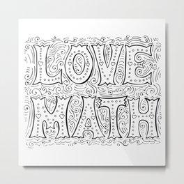 Love Math Metal Print