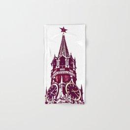 Kremlin Chimes-red Hand & Bath Towel