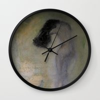 imagerybydianna Wall Clocks featuring la chambre verte by Imagery by dianna