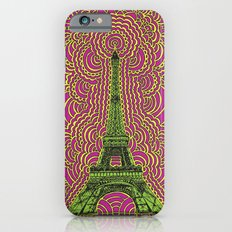 Eiffel Tower Drawing Meditation - Green/Pink/Yellow Slim Case iPhone 6s