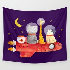 Let's All Go To Mars Wall Tapestry