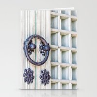 korean Stationery Cards featuring Korean Palace Doors II by Jennifer Stinson
