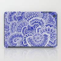 navy iPad Cases featuring Navy by Samantha Jeffrey