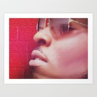 model Art Prints featuring Model by Azeez Olayinka Gloriousclick