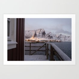 Morning in Lofoten Art Print