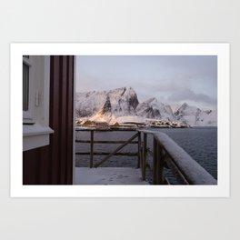 Morning in Lofoten Art Print
