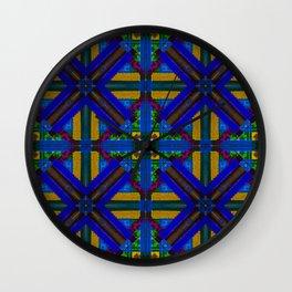 MOROCCAN ORNAMENT_in blue Wall Clock