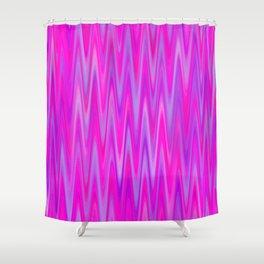 WAVY #1 (Purples, Violets & Fuchsias) Shower Curtain