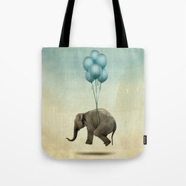 Levitating Elephant Tote Bag